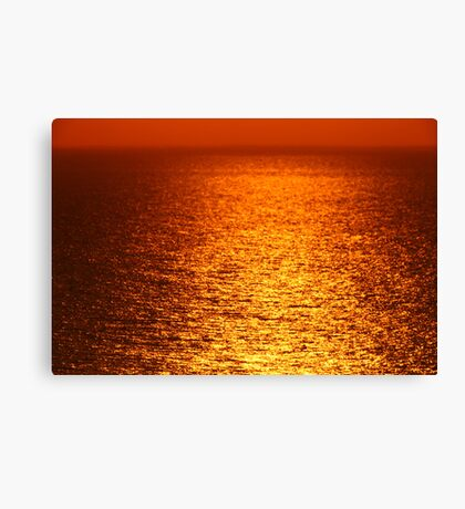 Lake Michigan Sunrise on the Horizon Canvas Print