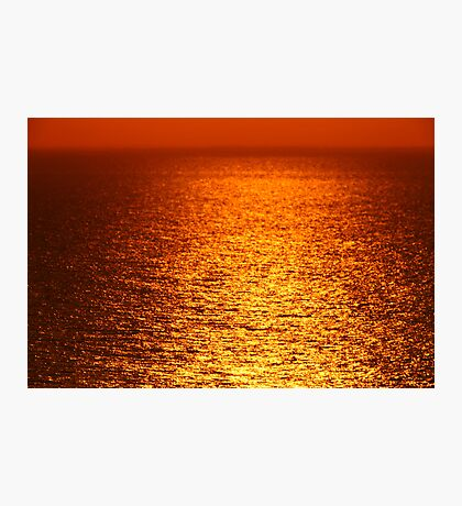 Lake Michigan Sunrise on the Horizon Photographic Print