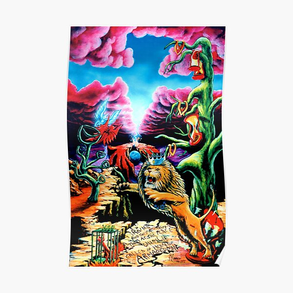 Trippy Psychedelic Surreal Visionary Psy Art - THE WRATH by Vincent Monaco Poster