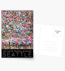 Gum Wall of Seattle # 1 Postcards