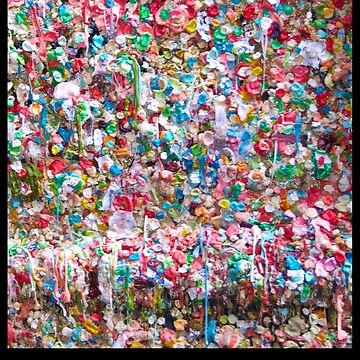 Gum Wall of Seattle # 1 by GoddessChrissy