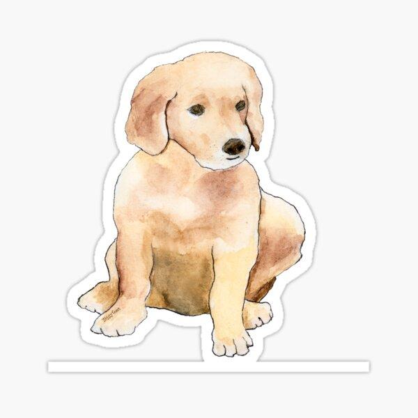 Golden Puppy  Sticker