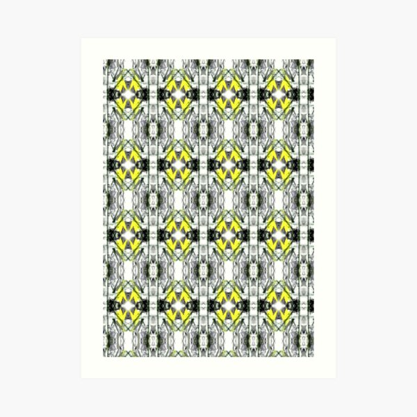 """Spring Will Come"" Daffodil in Snow Surface Pattern Design by Jenny Meehan  Art Print"