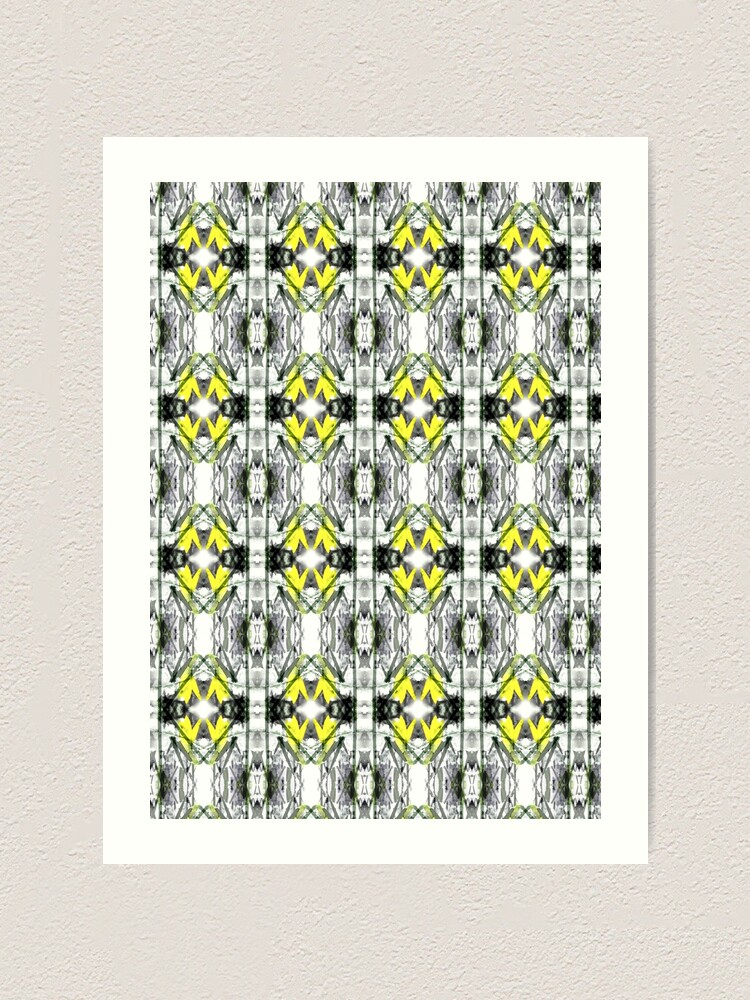 "Alternate view of ""Spring Will Come"" Daffodil in Snow Surface Pattern Design by Jenny Meehan  Art Print"
