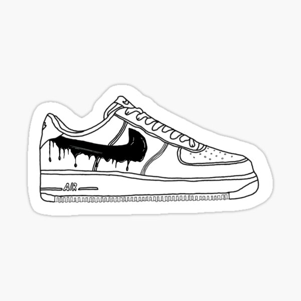 Black Drip Air Force 1 Sticker