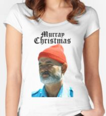 Murray Christmas - Bill Murray  Women's Fitted Scoop T-Shirt