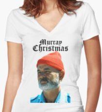 Murray Christmas - Bill Murray  Women's Fitted V-Neck T-Shirt