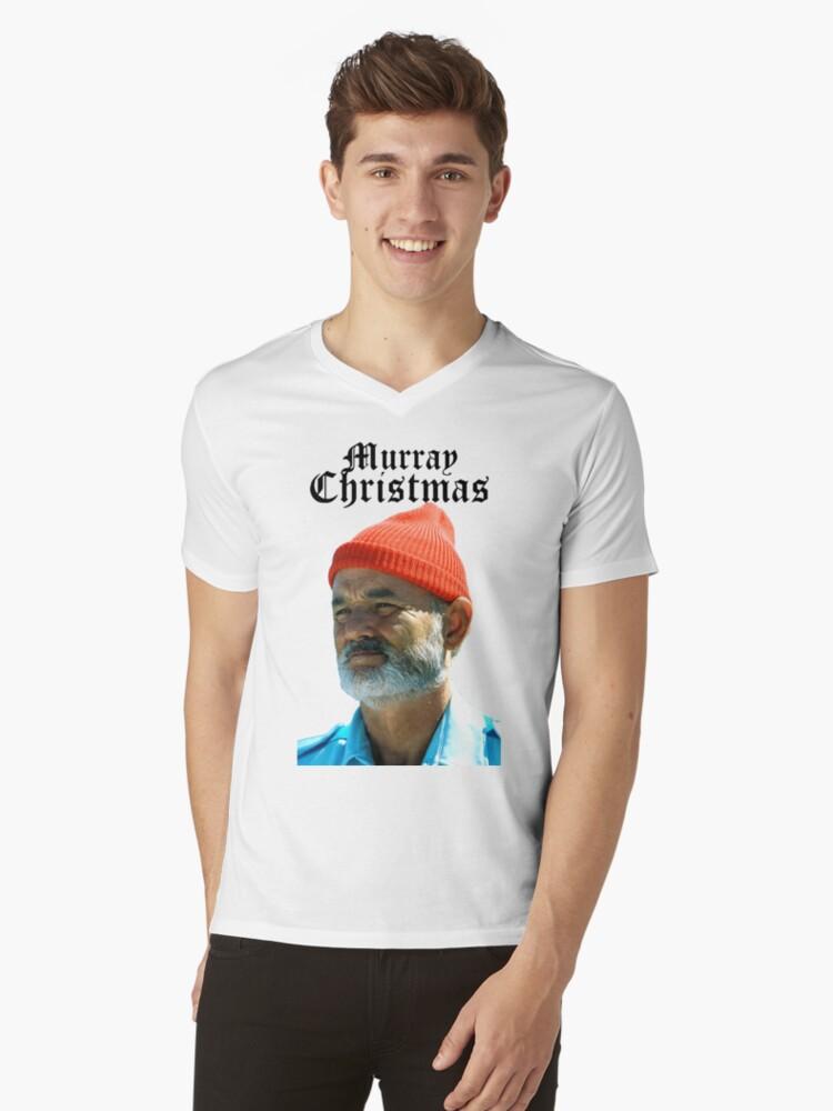 Murray Christmas - Bill Murray  Mens V-Neck T-Shirt Front