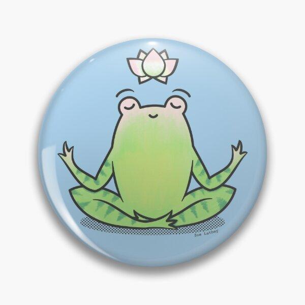 Zen Yoga Frog  Pin