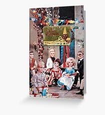 Thunderbirds Christmas, Vintage Collage Xmas Card Greeting Card