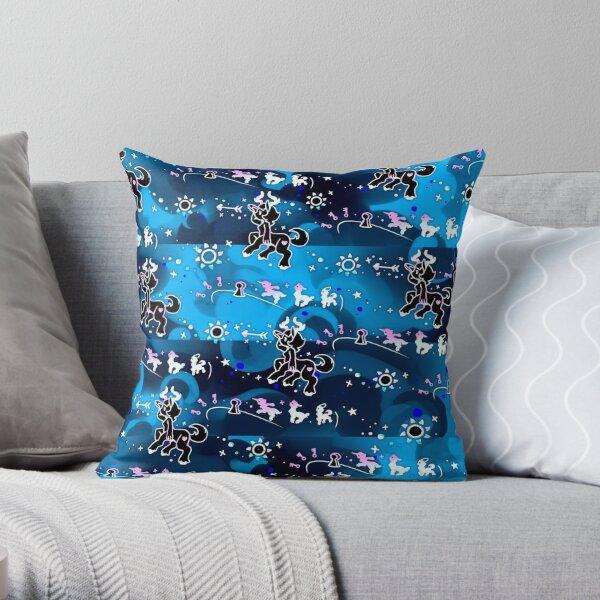 Blue Black Galaxy Centaur Throw Pillow