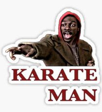 Karate Man Valentine Sticker