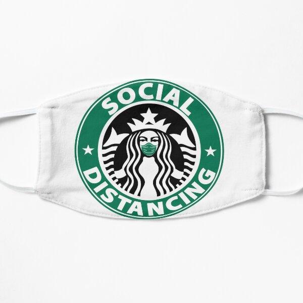 Social Distancing Starbucks-Inspired Art  Flat Mask