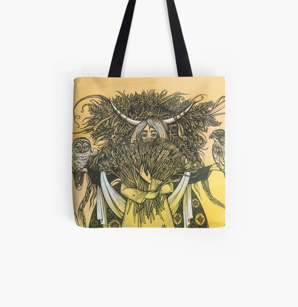 Wheat All Over Print Tote Bag