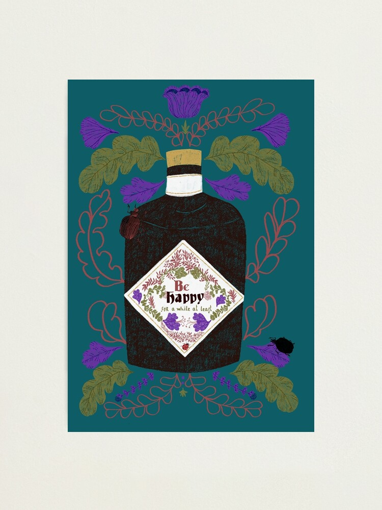 Alternate view of Be Happy, for a while at least.  Photographic Print