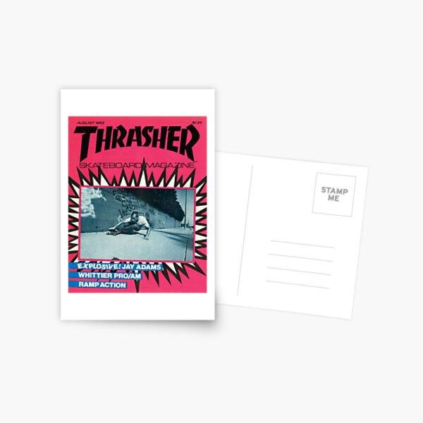 Esthétique du magazine de skate rose des années 90 Carte postale