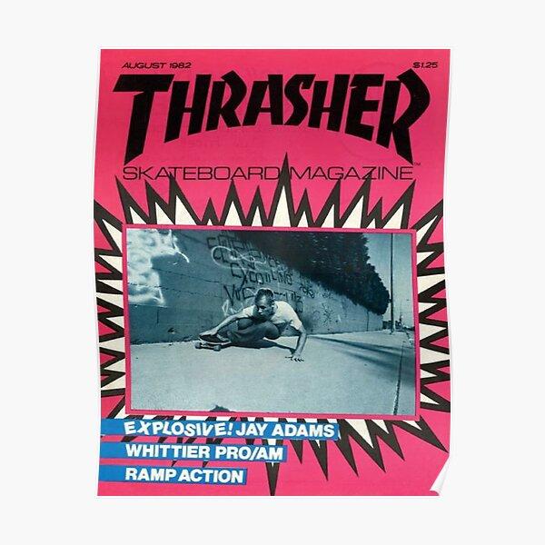 Esthétique du magazine de skate rose des années 90 Poster