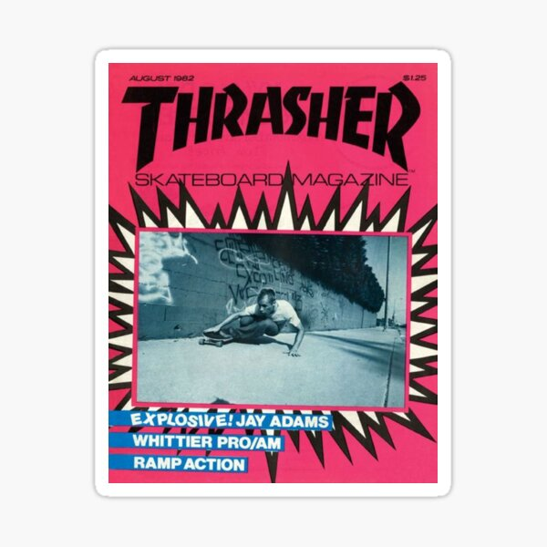 90s pink skate magazine aesthetic  Sticker