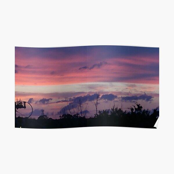 Purple Sunset over Sebastian River Poster