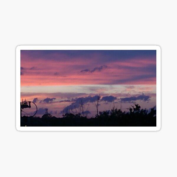 Purple Sunset over Sebastian River Sticker