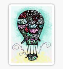 Flower Air Balloon Sticker