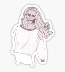 Knitted Lady #3 Sticker