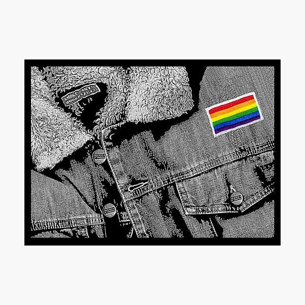 """Matt's Rainbow Jacket"" Photographic Print"