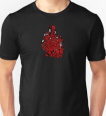 empty chest : anatomical heart (small red) Unisex T-Shirt