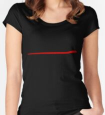 Dodge Chalenger R/T Side Fender Stripe Teeshirt - Red Women's Fitted Scoop T-Shirt