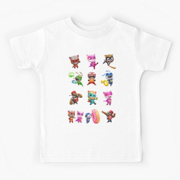 My Talking Tom Hero Dash characters  Kids T-Shirt