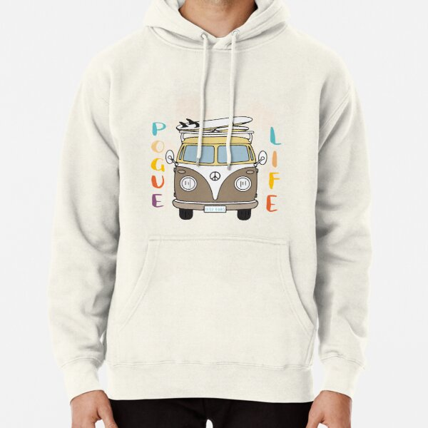 Pogue life Outer Banks clipart, outer banks png, Pogue life png, Outer Banks retro van Pullover Hoodie