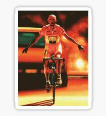 Marco Pantani Painting Sticker