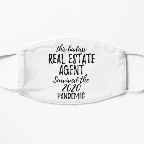 This Badass Real Estate Agent Survived The 2020 Pandemic Funny Coworker Gag Worker Gift Mask