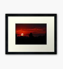 The Beautiful End of a Beautiful Day Framed Print