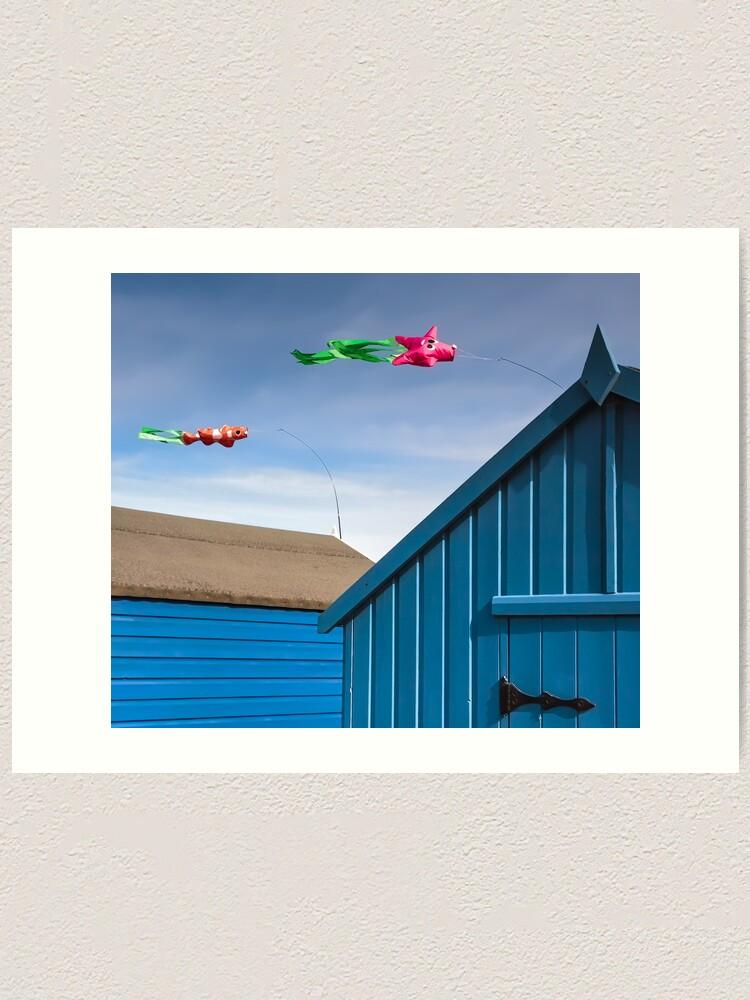 Alternate view of Windsocks and Beach huts Art Print