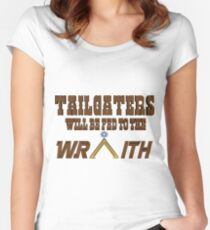 Tailgaters will be Fed to the Wraith! Women's Fitted Scoop T-Shirt