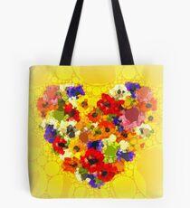 Blumenherzen Tote Bag