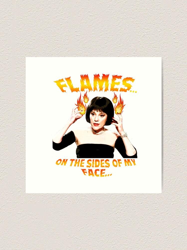 Alternate view of Clue Mrs White Flames Art Print