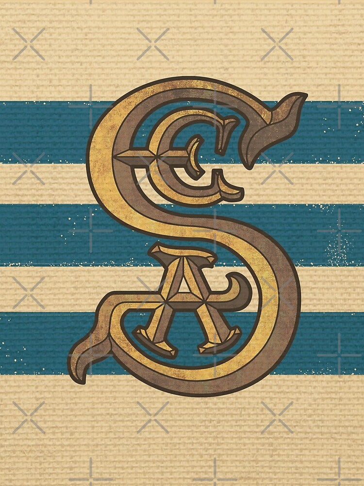 Society of Explorers and Adventurers Blue Stripes by Pop-Tacular