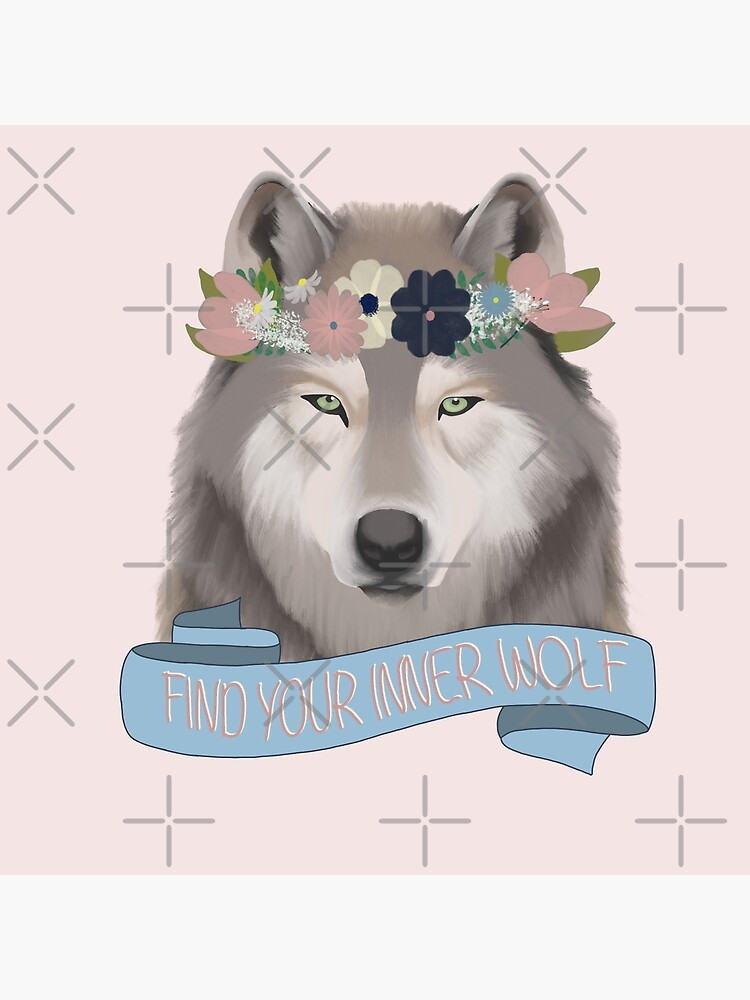 Floral Wolf // Find Your Inner Wolf by kmg-design