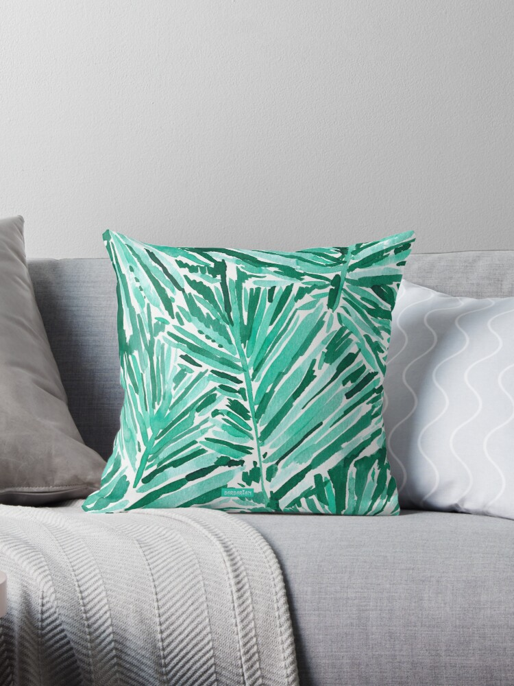 On Vacay Throw Pillow By Barbarian Redbubble