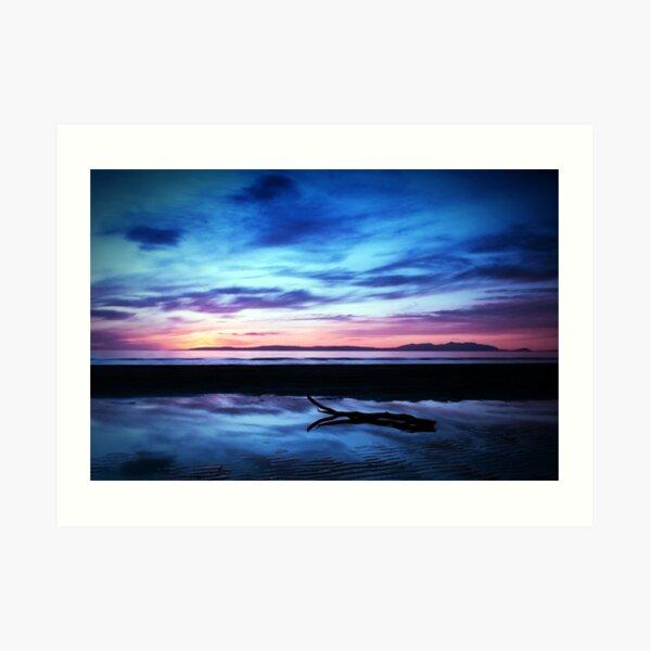 Sunset Over Troon Beach Art Print