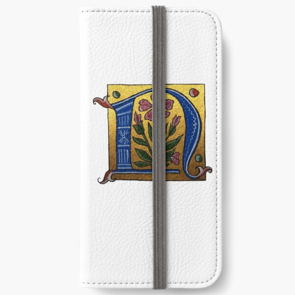 Illuminated Letter N iPhone Wallet