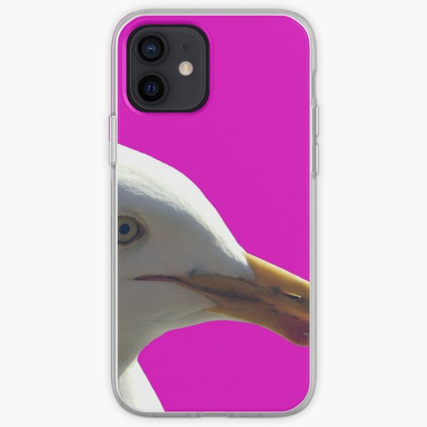 Pink Frank, the friendly seagull. iPhone Soft Case