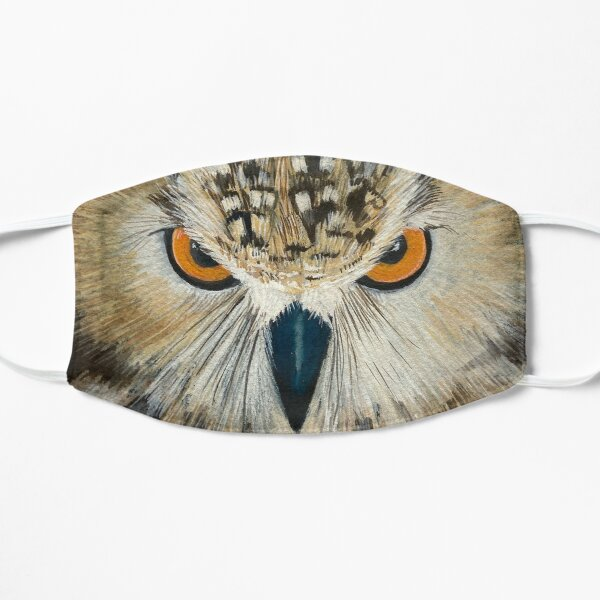 Indian Eagle Owl to watch over you  Flat Mask