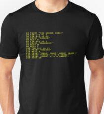 Badger Ad Infinitum - Amber on Black Terminal Unisex T-Shirt