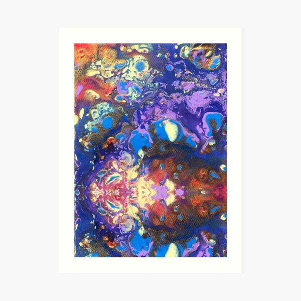 Colourful mask Art Print