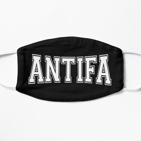 Antifa - Diseño de texto blanco antifascista y antinacionalista Mascarilla