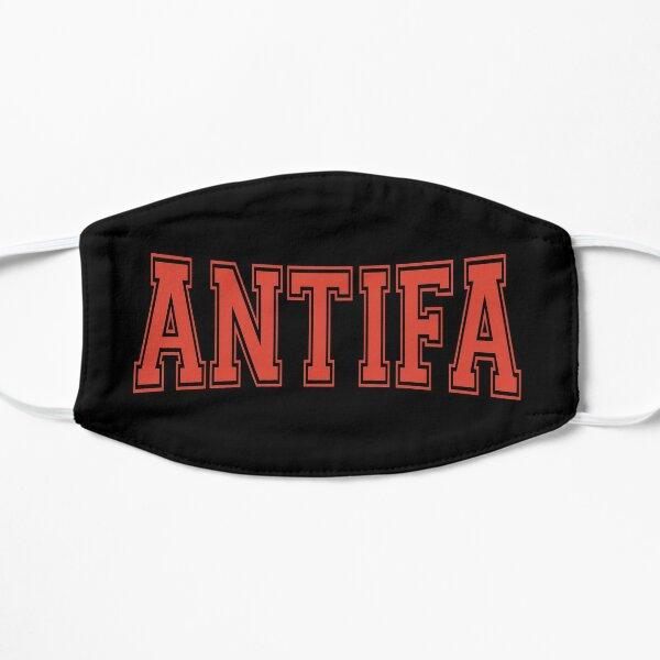 Antifa - Diseño de texto rojo antifascista y antinacionalista Mascarilla