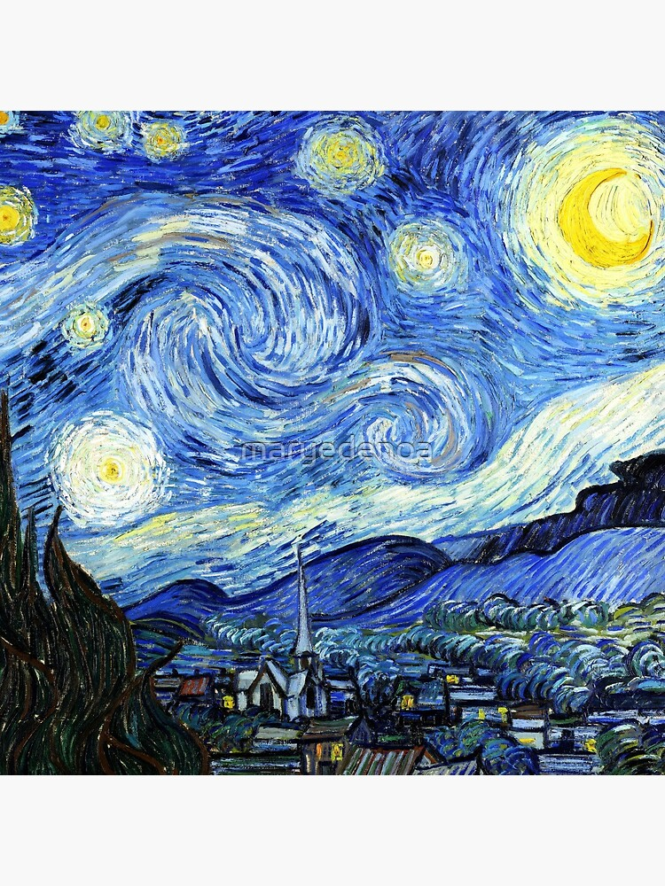 The Starry Night - Vincent van Gogh by maryedenoa